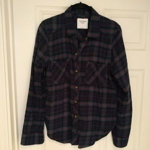 A&F plaid flannel medium